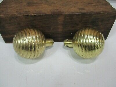 Vintage Heavy Brass Finish Bee Hive Style Entry Door Knobs Cm30