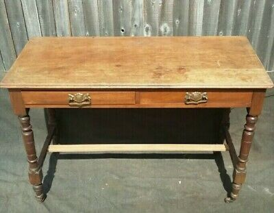 Antique mahogany side table for light restoration or upcycle project.