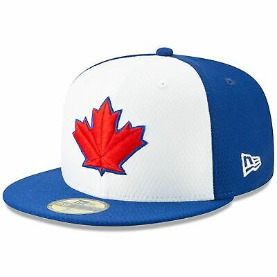 Mens New Era MLB 2019 Batting Practice 59FIFTY Fitted Toronto Blue Jays