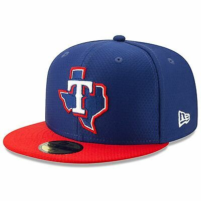 [11900014] Mens New Era MLB 2019 Batting Practice 59FIFTY Fitted Texas Rangers