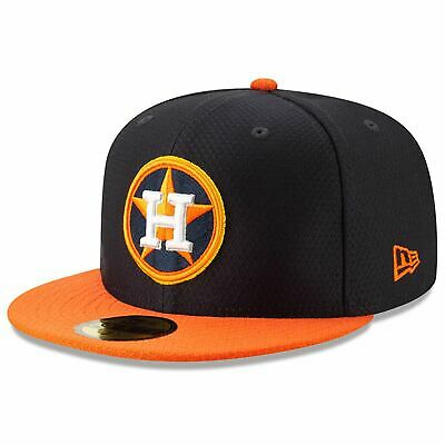 [11900038] Mens New Era MLB 2019 Batting Practice 59FIFTY Fitted Houston Astros