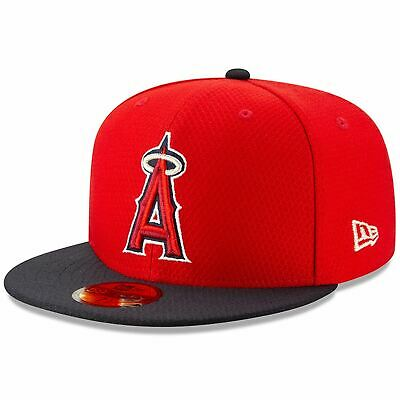 Mens New Era MLB 2019 Batting Practice 59FIFTY Fitted Los Angeles Angels
