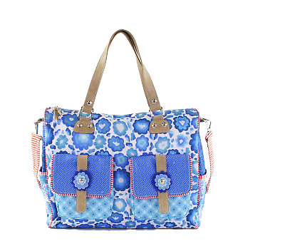 Shoulderbag, Large Blue, Yucatan, Happiness, Tasche