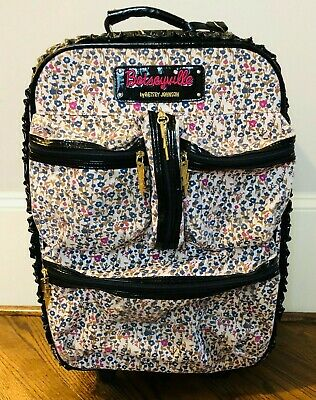 Betseyville by Betsey Johnson Floral Rolling Suitcase Travel Carry On