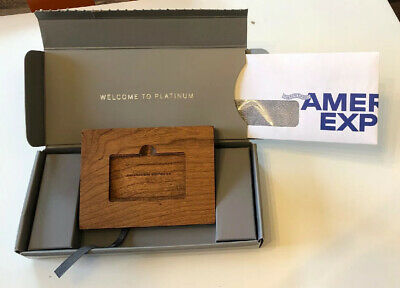 American Express Platinum Wood Phone Stand & Welcome Package AmEx