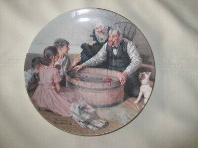 """""""Halloween Frolic"""" by Norman Rockwell Collector Plate Limited Edition"""