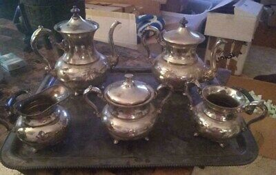 Vintage Tea Set by Poole Silver co. dated 1913