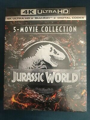 Jurassic World Park 5movie Collection New 4K Ultra HD With Blu-Ray, Boxed Set
