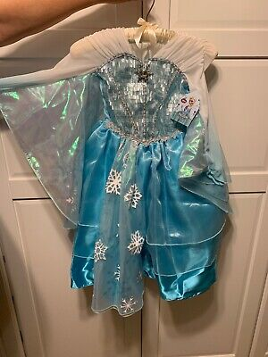Disney Store Authentic Elsa Deluxe Costume for Girls Frozen Size 4 NWT