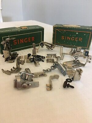 Vintage Singer Sewing Machine Attachments for Various Class Machines 15 Pieces