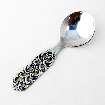 Magnus Aase Scroll Tea Caddy Spoon 830 Silver 1950 Norway