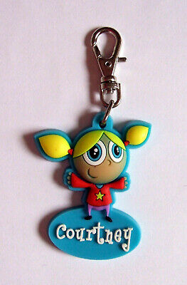 PERSONALISED ZIPPER PALS (GIRL) - COURTNEY - Keyring, charm, zip puller