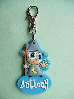 PERSONALISED ZIPPER PALS (BOY) - ANTHONY - Keyring, charm, zip puller