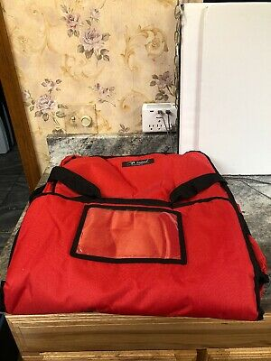Yopral Red Pizza Delivery Bags Thick Insulated Professional Pizza Bag