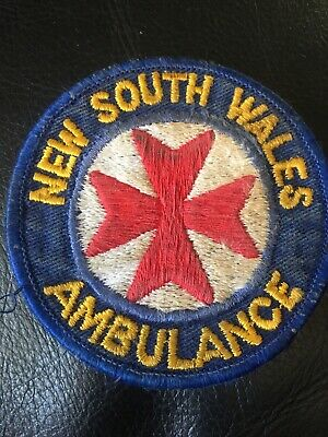 obsolete Nsw ambulance Patch Used Some Staining Look At Photo .