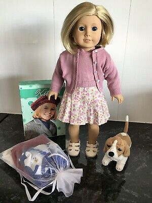 American Girl Doll Original Kit Includes Pet Books Holiday Outfit And Pyjamas