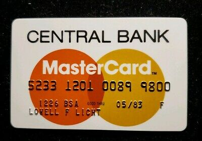 Central Bank MasterCard exp 83 ♡Free Shipping♡cc244♡