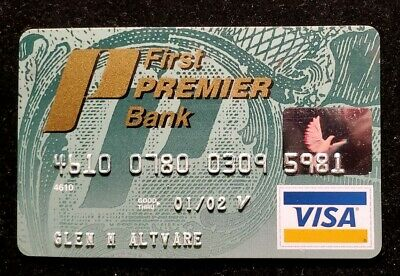 First Premier Bank Visa Charge Card exp 02♡Free Shipping♡cc250♡