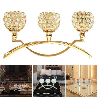 Candle Holder Crystal Ball Arch Bridge Shape Tea Light Candlestick Party Home
