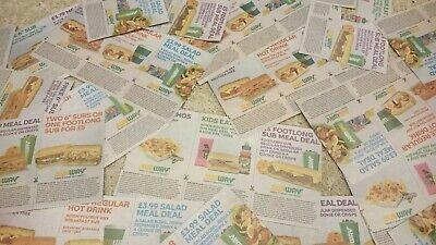 Subway coupons for meal deals 54x mix
