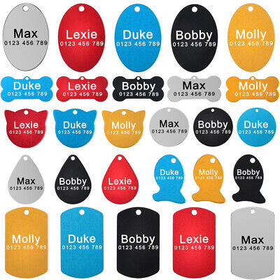 Personalized Dog Tags Custom Engraved Dogs Cat Puppy Pet ID Name Phone Nameplate