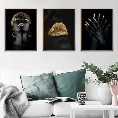 Abstract African Woman Canvas Oil Painting Print Picture Wall Art Decor Unframed