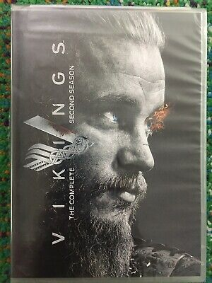 Vikings TV Series The Complete Second Season DVD 3 Disc Pack 2014 FACTORY SEALED