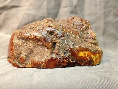 Chinese Antique Baltic Butterscotch Amber Scholar Viewing Stone 琥珀 密蜡 山子 266 G
