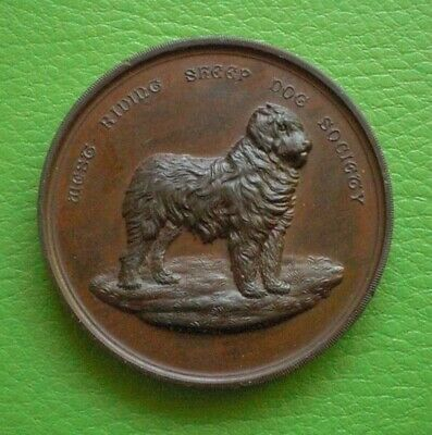 Large Agricultural Antique West Riding Sheep Dog Society Medallion. Free Postage