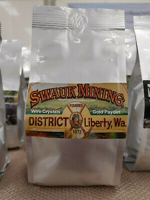 1lb Gold Bearing Paydirt From Liberty, WA. Unsearched, Guaranteed Wire Gold