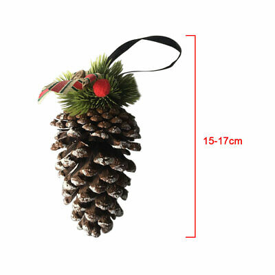 Festival Christmas Decor Pine Cone Hanging Party DIY Dried Craft Office Natural