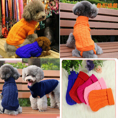 Knitted Dog Sweater Chihuahua Clothes Winter Knitwear Pet Puppy Jumper Costumes