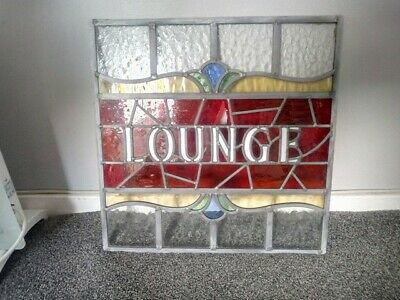 Antique stained glass Pub Window