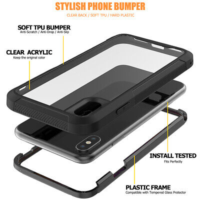 For iPhone 6 7 8 Plus XR XS 11 Max Case Shockproof 360 Bumper Hybrid Phone Cover