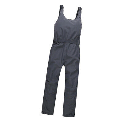 Kids Ski Pant Salopettes Waterproof Insulated Snow Trouser Overall Bib Black