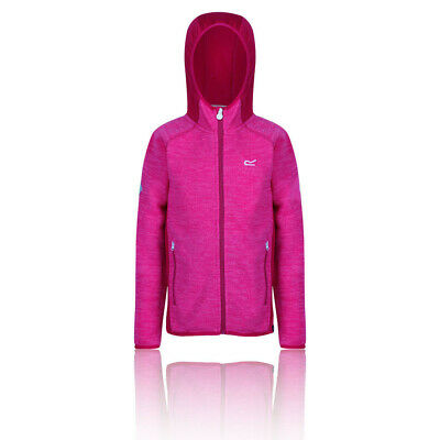 Regatta Girls Dissolver II Hooded Fleece Top - Pink Sports Outdoors Full Zip War