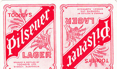 1 Playing Swap Card Australian Brewery Tooheys Pilsener Lager - Red
