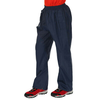 Regatta Junior Pack-It Kids Overtrousers Blue Navy Sports Outdoors Breathable
