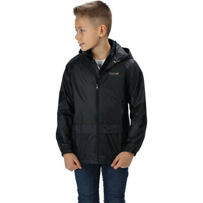 Regatta Junior Stormbreak Kids Jacket Top Black Sports Outdoors Waterproof