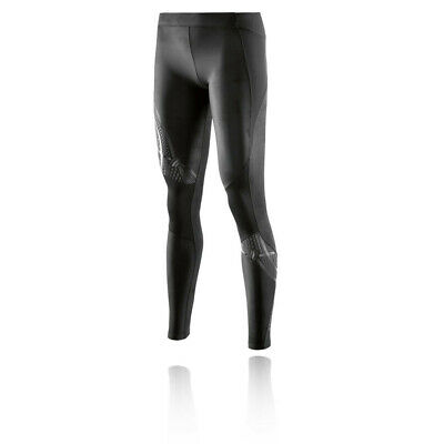Skins Womens A400 Compression Long Tights Bottoms Pants Trousers Black Sports
