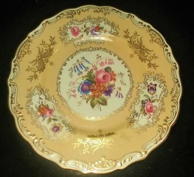 Antique Spode Period 1790-1820 Copeland Spode Hand Painted Plate Signed R Wood