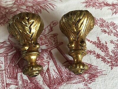 Pair Antique French Brass / Bronze Curtain / Light Pulls
