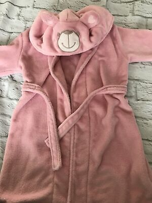 Age 7-8 Pink Soft Fluffy Dressing gown