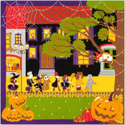 FUROSHIKI Japanese Wrapping Cloth Cotton Fabric MADE IN JAPAN 50cm Halloween Cat