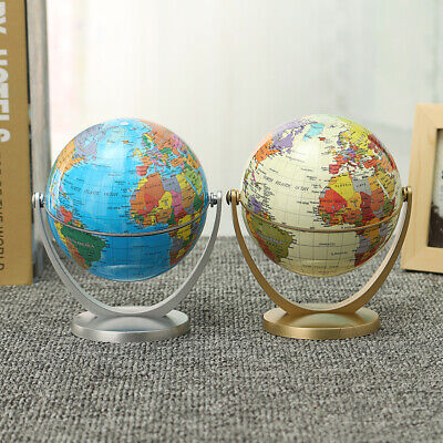 10.6cm New Ocean World Globe Map With Swivel Stand Geography Table Educational