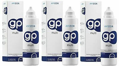 Avizor GP Multi Contact Lens Solution for Gas- Permeable Contact Lenses x 3 Pack