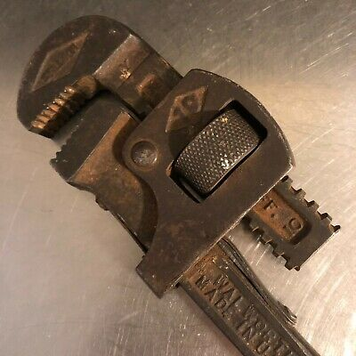 VTG Stillson Wallworth Wrench Monkey Pipe Adjustable Made USA Number 10 Tool