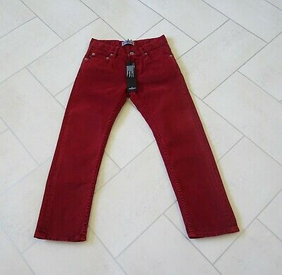 Stone Island Junior Red Skinny Fit Jeans Age 5 New With Tags **