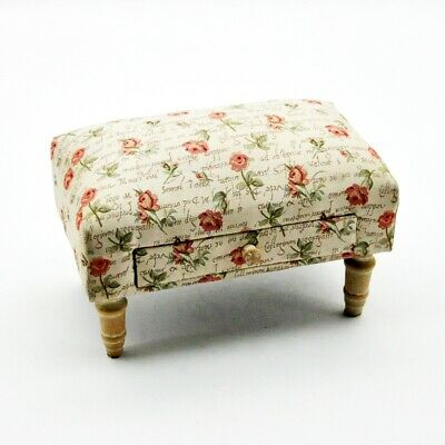 Traditional Tapestry Vintage Styled Fabric Footstool