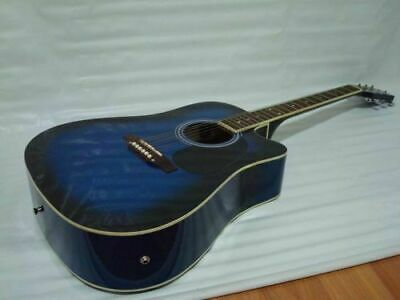 6 String Acoustic Electric Guitar, Full Size, Cutaway, Blue